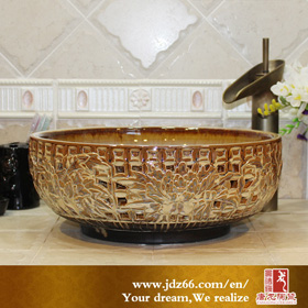 Round kitchen ceramic basin