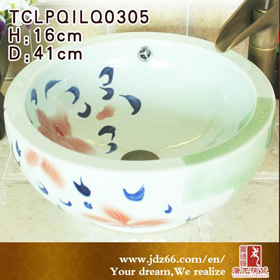 Jingdezhen double flower sink