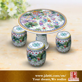 Jingdezhen table and stool