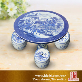 Jingdezhen garden porcelain table